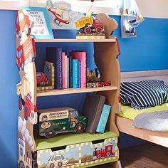 Kids Transportation Book Shelf Storage Bookcase Display Furniture Organizer Boys #TeamsonDesignCorp