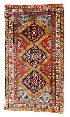 Bidjar 7ft. 4in. x 4ft. 223 x 123 cm Persia circa 1880