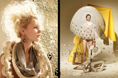 Paper-Crafted Editorials - Hattie Newman Creates Artwork for the Madame Magazine March 2014 Issue (GALLERY)