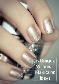 Loving these 15 chic and unique wedding manicures! Not just for weddings! I love this look!