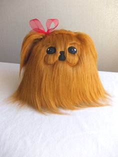 Dog, Pekingese, stuffed dog, plush dog, fur dog, fluffy dog, pekingese stuffed animal, pekingese stuffed toy, pekingese dog , RED pekingese by PillowsRollanda on Etsy