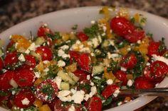 Mediterranean salad with feta - low fodmap