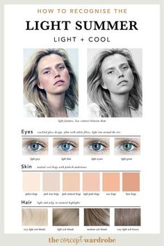 If you have just discovered that you are a Light Summer in the seasonal colour analysis, find out which colours look best on you. Cool Summer Palette, Summer Colors, Summer Color Palettes, Summer Skin, Soft Summer, Cabelo Inspo, Seasonal Color Analysis, Beauty And Fashion, Light Spring