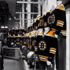 Boston Bruins stand in the NHL store