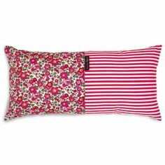 Coussin Mrs & Mrs Clynk Liberty rayures rouges
