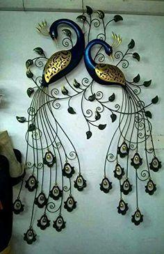 Bonita decoración mariposa Butterfly wandhänger pared decoración metal oro verde
