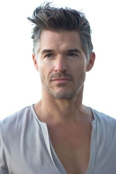 Check Out 20 Amazing Gray Hairstyles For Men. Whenever age you are, this is doesn't matter, you can stay stylish and trendy with our mens hairstyles. Undercut Hairstyles, Cool Hairstyles, Men's Hairstyle, Hairstyle Ideas, Hot Men, Hot Guys, Hair And Beard Styles, Short Hair Styles, Eric Rutherford