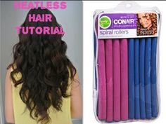 How to get my heatless summer beachy waves (: - Modern Hair Curlers Overnight, Curlers For Long Hair, Overnight Curls, How To Use Curlers, Heatless Hairstyles, Heatless Curls, Braided Hairstyles Updo, Updo Hairstyle, Braided Updo