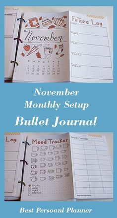 November Monthly Setup - Bullet Journal, the new month setup won't take you much time, by now you know what spreads work better for you! Bullet Journal Diy, Bullet Journal Layout, Bullet Journal Inspiration, Hot Apple Cider, Cool Notebooks, Mood Tracker, Working On It, Autumn Activities, How To Get