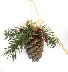 Beautiful natural pine cone ornament
