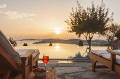 Mykonos Villa Aphrodite in dandy Agios Lazaros - HomeTality Mykonos Villas, White Candles, Luxury Villa, Aphrodite, Fairy Lights, Dandy, Luxury Travel, Luxury Homes, Reception