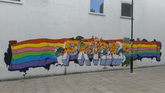 Art for Brighton Pride 2015 #Brighton #Hove #streetart  #urbanart #graffiti #paintedcity #lgbt #gay #Sussex #brightonpride