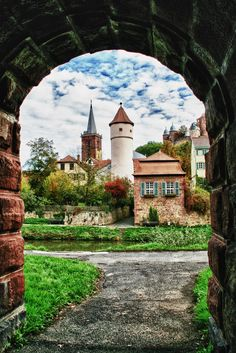 Wertheim famous for its castle and medieval town centre - Baden-Württemberg - Germany