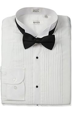 Stacy Adams Men's Tuxedo Shirt and Bow Tie, White, X-Large ❤ NCP Direct Sourcing, Inc.
