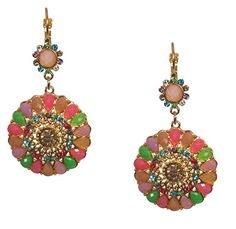 Goldtone Mint Green Pink Blue Crystal Statement Earrings for Women -- Be sure to check out this awesome product.(This is an Amazon affiliate link and I receive a commission for the sales)