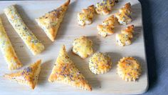 Savoury shorbreads with cheese and poppy seeds