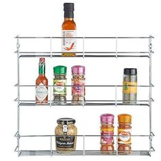 Good VonShef 3 Tier Spice Rack Chrome Plated (Easy Fix) For Herbs And Spices  Suitable