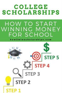 How to start the college scholarship process - Learn how to WIN money for school and reduce student loan debt with the Financial Aid For College, College Savings, College Planner, Weekly Planner, College Hacks, College Life, High School Students, College Students, Homeschool High School