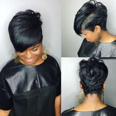 Long pixie hairstyles are a beautiful way to wear short hair. Many celebrities are now sporting this trend, as the perfect pixie look can be glamorous, elegant Short Black Hairstyles, Pixie Hairstyles, Braided Hairstyles, Medium Hairstyles, Men's Hairstyle, Wedding Hairstyles, Trendy Hairstyles, Layered Hairstyles, Hairstyles 2018