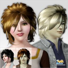 Emma's Simposium: Free Hair Pack #215 By PeggyZone - Donated/Gifted ...