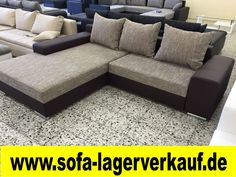 FEDERKERN BETTSOFA SchlafCOUCH Sofa COuch Wohnlandschaft Lederimitat SCHW.  Grau