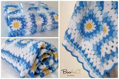 Booboo boutique Handmade crocheted baby blanket 100% Soft Acrilyk Baby Yarn 100x80 cm