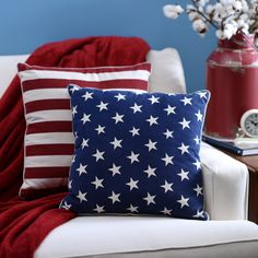 These bold pillows reflect your patriotism.