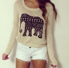 Tumblr outfits. Nice sweater but white shorts? With the sweater?