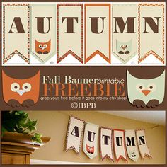Fall Owl Banner Freebie