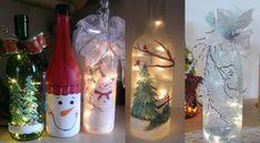 Lámparas navideñas con botellas de vino recicladas Decoupage, Holiday, Christmas, Bottle, Crafts, Home Decor, Amelia, Bottles, Feltro