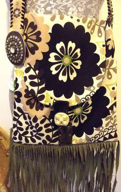 Mod Purse Fringed Bag Flower Power Purse Boho by GypsythatIwas