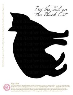 """Need a fun game to play at the party? Try """"Pin the Tail on the Black Cat"""". It's just like """"Pin the Tail on the Donkey"""". Just draw or print out your own black cat and draw/print out right number of tails you need (one per player) and number each tail so there is no confusion when deciding who won."""