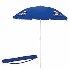 Picnic Time Navy Umbrella - University of Arizona