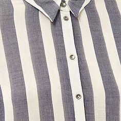 Blue stripe loose shirt - £28.00 #riverisland