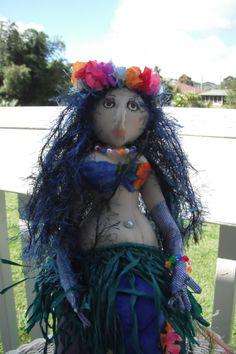Handcrafted Cloth Mermaid Doll by KauaiMermaids on Etsy, $125.00