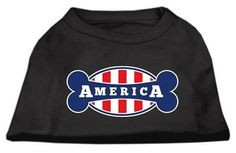 Bonely in America Screen Print Shirt Black XS (8)
