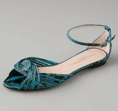 Loeffler Randall Snake Print Sandal