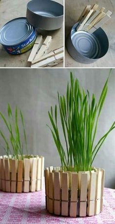Save time for creative and interesting ideas. Make creative stuff out of wooden pegs. You can make awesome decorations out of wooden pegs or some things Fun Crafts, Diy And Crafts, Crafts For Kids, Creative Crafts, Kids Diy, Articles En Bois, Decoracion Low Cost, Diy Casa, Deco Originale