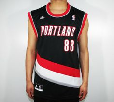 bea99d06e0a2 Nicolas Batum Portland Trail Blazers 88 NBA Replica