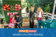 Valentine's Day Photo Backdrop -   Create picture perfect memories with this adorable Valentine's Day photo backdrop from @paigehemmis & @msteines1! Catch Home and Family weekdays at 10/9c on Hallmark Channel!