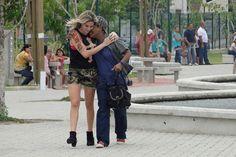 Mart'nália e Luma osta gravam cenas de chamego em parque no Rio #PeNaCova | TV Globo