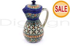 Polmedia Polish Pottery 17 oz Stoneware Pitcher with Lid H6587E Unikat | eBay