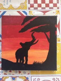 Olifant zonsondergang Afrika