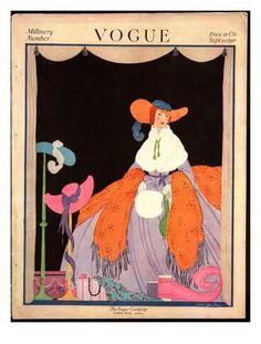Vogue Cover - September 1916 Giclee Print by Helen Dryden at Art.com