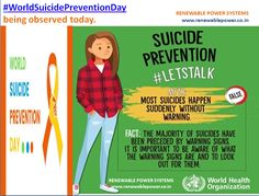 #WorldsSuicidePreventionDay Raising community awareness and breaking down the taboo is important to make progress in preventing suicide #Renewablepowersystemsdelhi shares Suicide Prevention Helpline Number: +9183768 04102