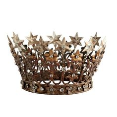 I am OBSESSED with crowns! I even bought a crown from Wisteria last year to use as my tree topper! this crown is definitely another favorite Gold Crown, Crown Jewels, Crown Png, King And Queen Crowns, Star Hair, Metal Stars, Bridal Crown, Crown Hairstyles, Tiaras And Crowns