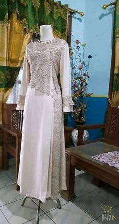 Source by brokat Source by jazminecoconnorjazmine brokat Dress Brokat Muslimah 36 Ideas Dress Brukat, Kebaya Dress, Dress Pesta, Batik Dress, Hijab Gown, Hijab Dress Party, Party Gowns, Kebaya Muslim, Muslim Dress