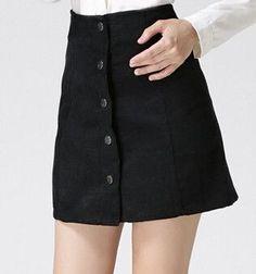 Vintage corduroy high waist mini skirt