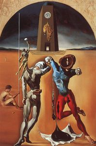 Dalí the poetry of america - the cosmic athletes, oil o - (Salvador Dali)