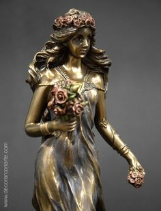 Ostara, diosa de la primavera. 26cm Fairy Statues, Gods And Goddesses, Creative Inspiration, Carving, Fictional Characters, Beautiful, Collection, Plaster Crafts, African Dolls